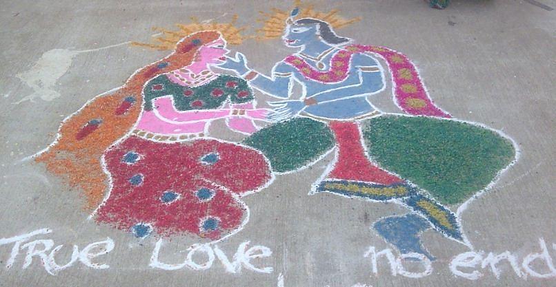 Best Artwork Ceramic Art - Krishna - Radha Love by Joni Mazumder