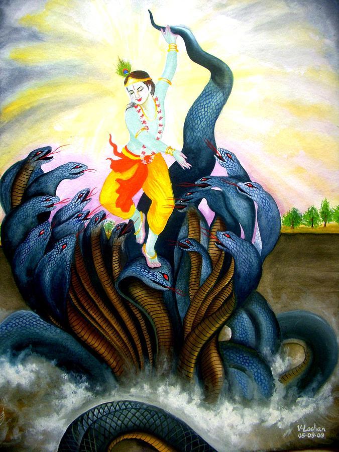 Lord Krishna Painting - Krishna by Lochan Venna
