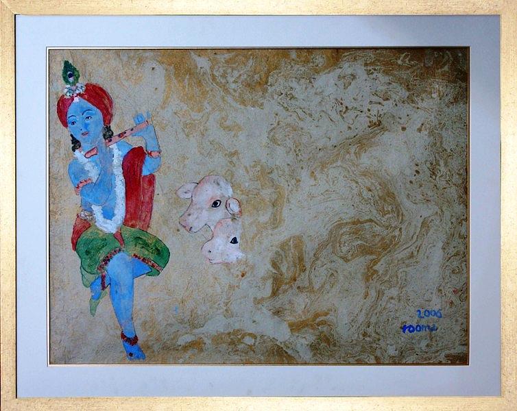 Lord Krishna Painting - Krishna by Rooma Mehra