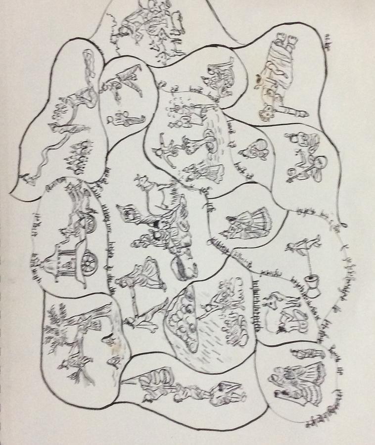 Krishna The God  Drawing by Jayasree Anand