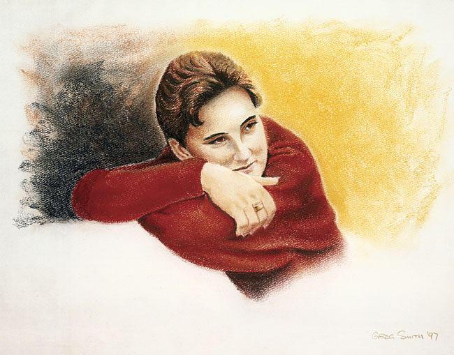 Portrait Drawing - Kristel by Greg Smith