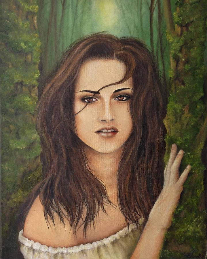 Twilight Painting - Kristen Stewart by Lena Day