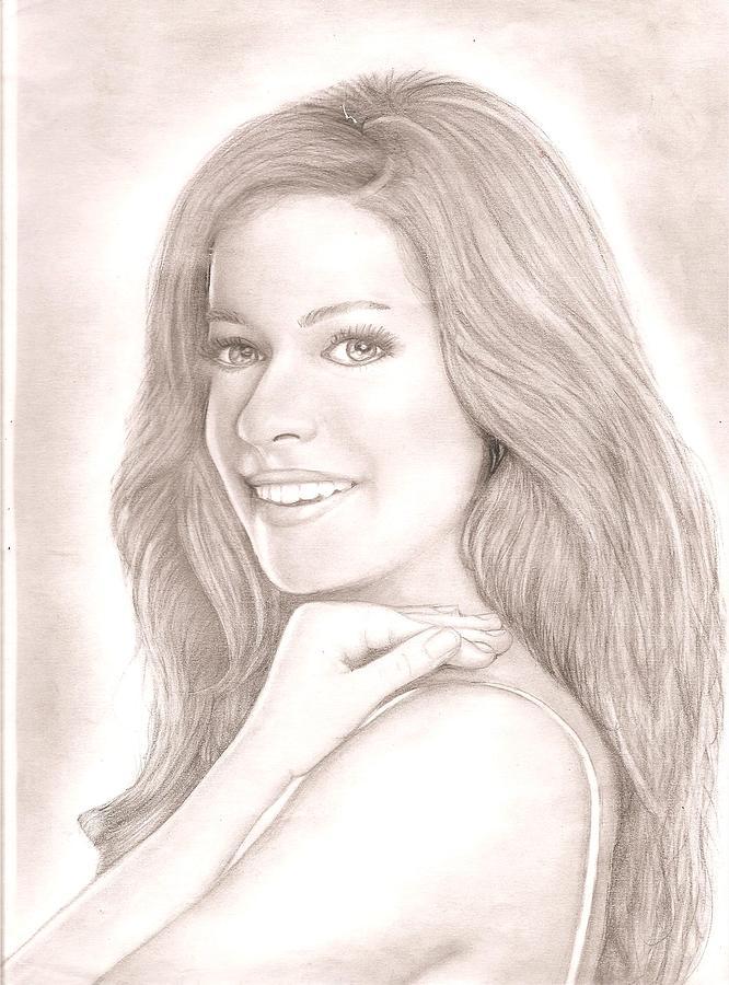 Golf Pencil Drawing - Kristin Cavallari  by Chris Jorge