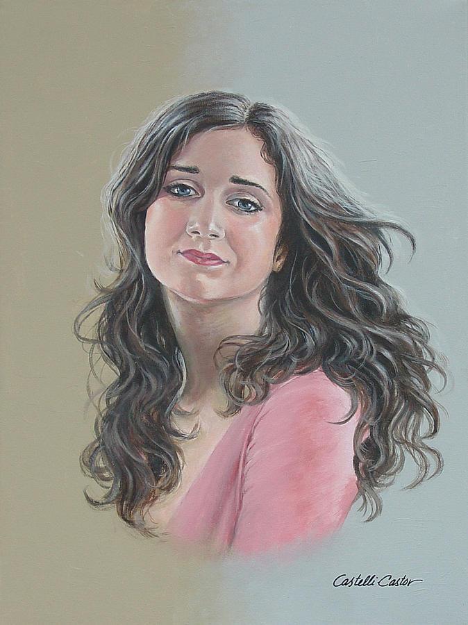 Portrait Painting - Kristina by JoAnne Castelli-Castor