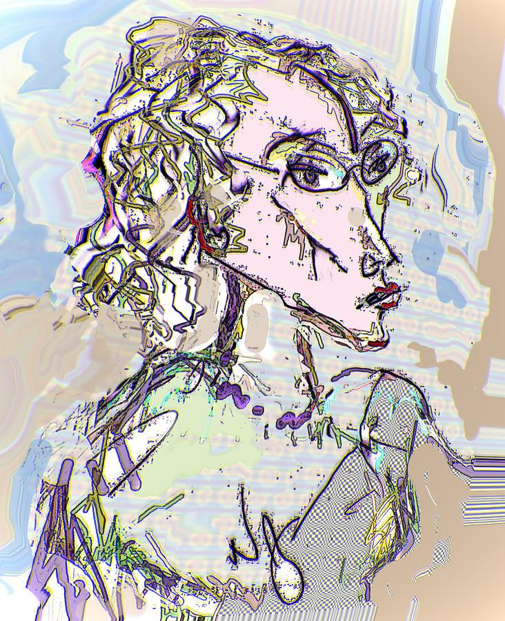 Life Drawing Digital Art - Kristine by Noredin Morgan