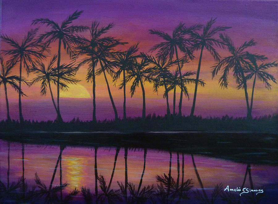 Kristine's Sunset by Amelie Simmons