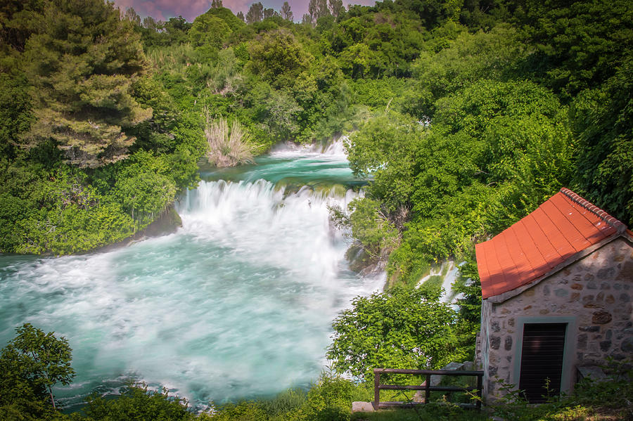 Love Photograph - Krka Waterfall Croatia by Mangesh Bhagat