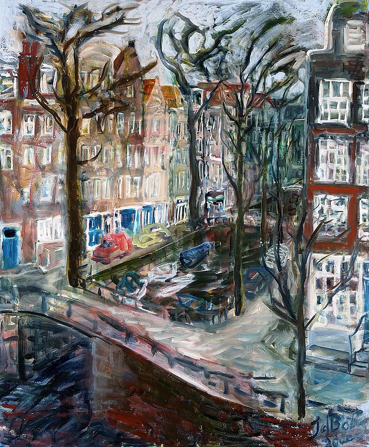 Kromboom Sloot Painting by Joan De Bot