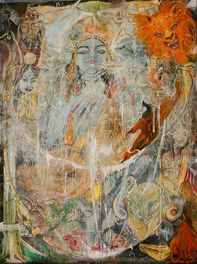 Krsna Painting - Krsna by Brian c Baker