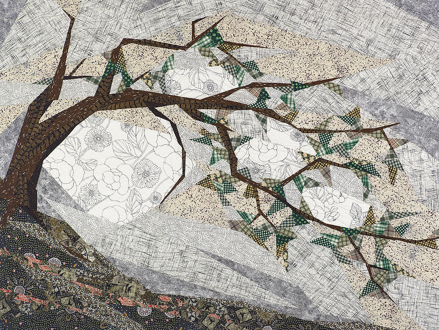 Tree Tapestry - Textile - Krummholz by Linda Beach