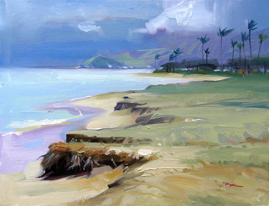 Hawaii Painting - Kualoa Light by Richard Robinson