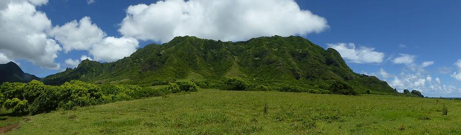 Hawaii Photograph - Kualoa Panorama by David Givens