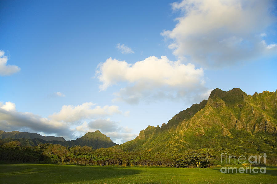 Bright Photograph - Kualoa Ranch by Dana Edmunds - Printscapes