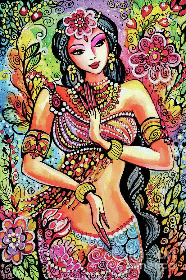 Днем рождения, открытка с индийскими мотивами