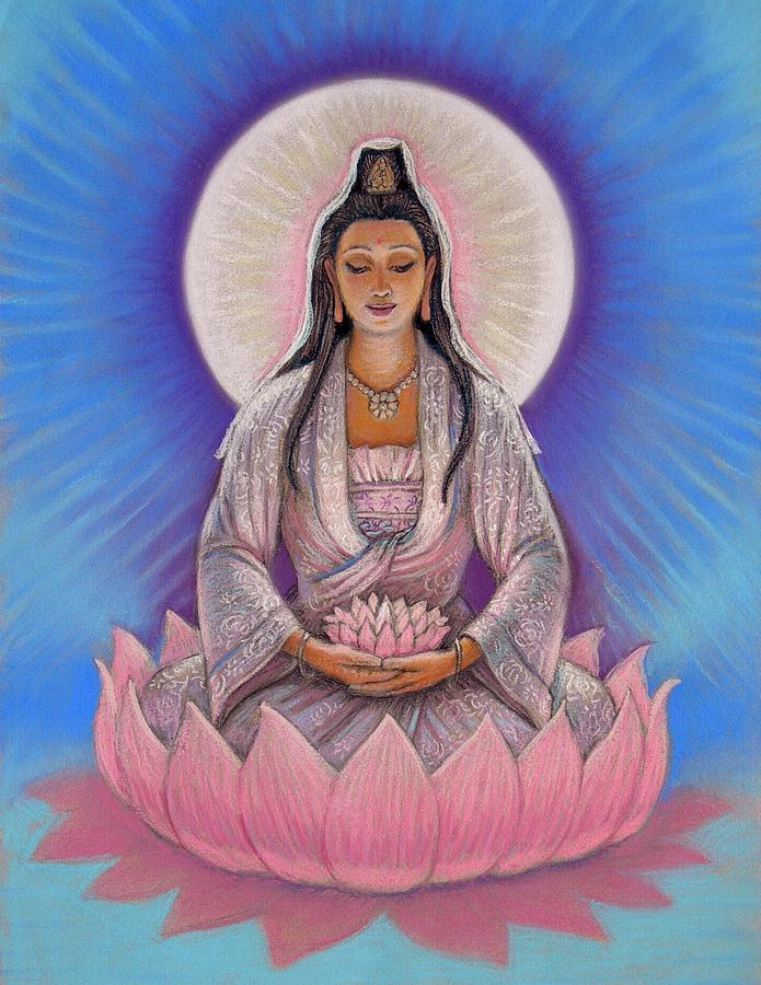 Kuan Yin Painting - Kuan Yin by Sue Halstenberg