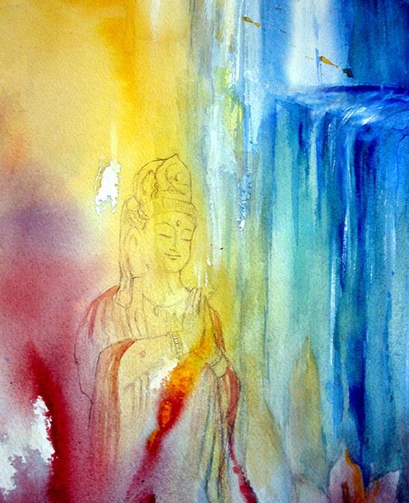 Quan Yin Painting - Kuan Yin by Wendy Wiese