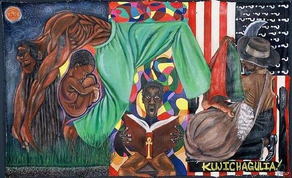 Kujichagulia Painting by Malik Seneferu