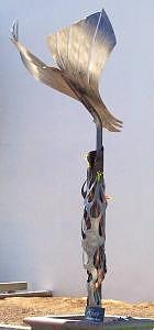 Eagle Sculpture - Kumeyaay Eshpa Tree by Paul Vauchelet