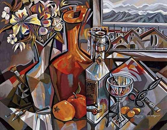 Flowers Painting - Kumquats And Orange Vase by Robert Lyn Nelson