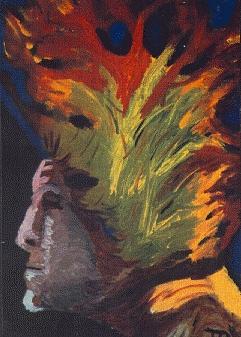 Yoga Painting - Kundalini by Tom Rundquist