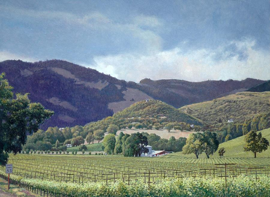 Kunde Winery Estate Painting - Kunde by Paul Youngman
