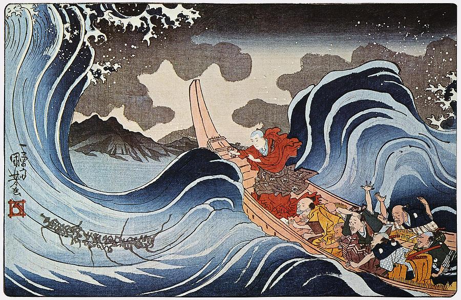 1835 Photograph - Kuniyoshi: Oban Print by Granger