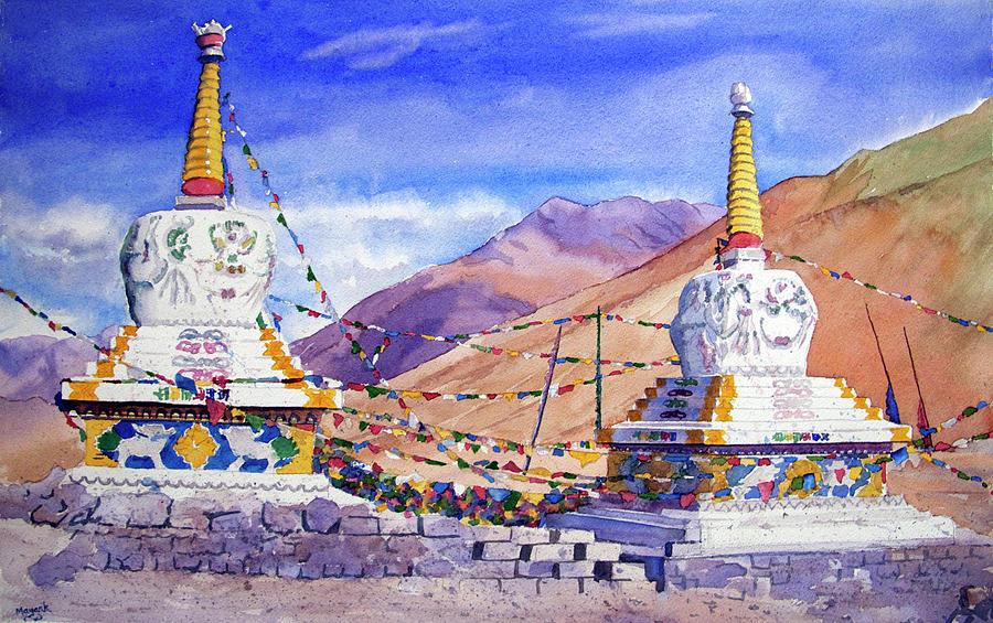 Kunzum Stupas by Mayank M M Reid