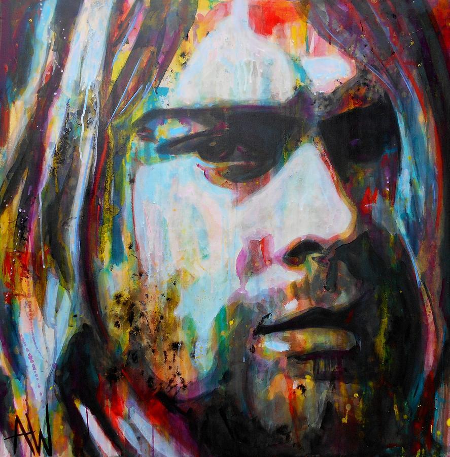 Painting Painting - Kurt Cobain by Angie Wright