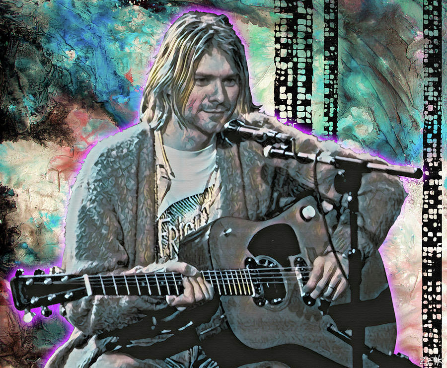 Chris Cornell Painting - Kurt Cobain - Come As You Are by Bobby Zeik