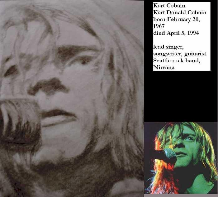 Portraits Drawing - Kurt Cobain by Janet Gioffre Harrington