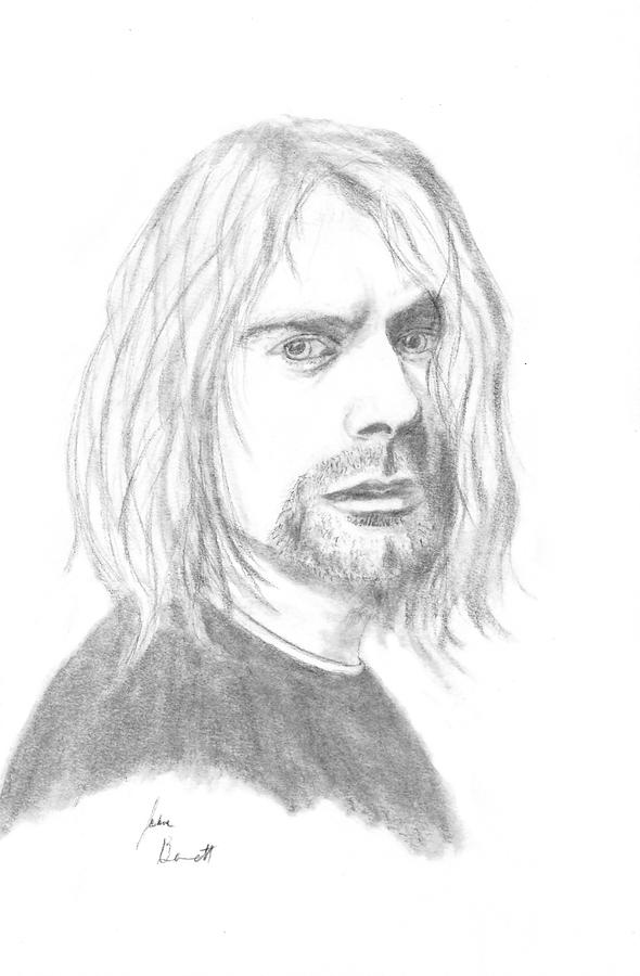 Kurt Cobain Drawing - Kurt Cobain by Josh Bennett