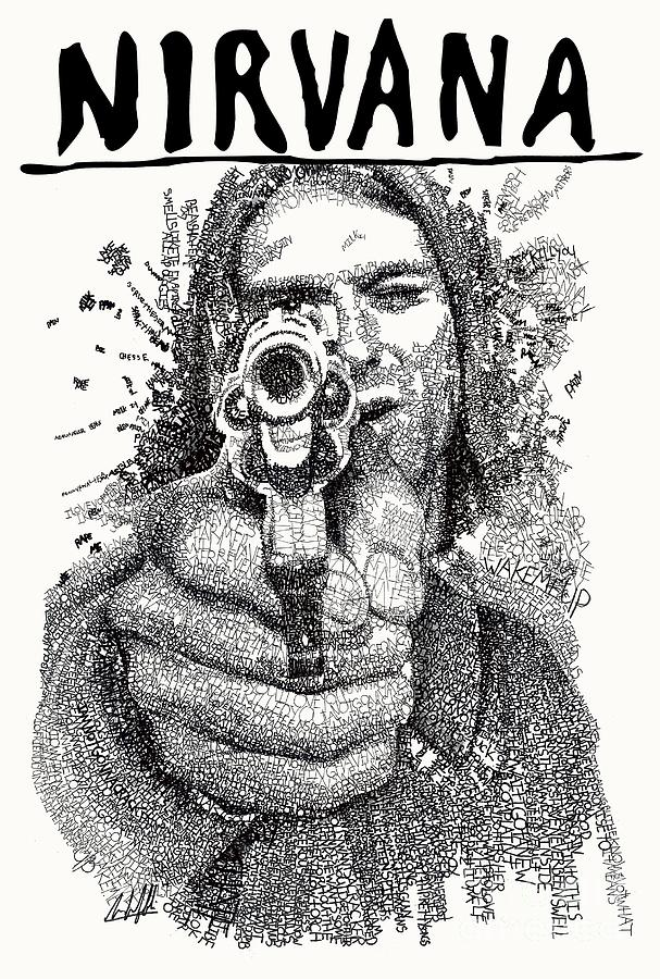 Kurt Cobain Drawing - Kurt Cobain by Michael Volpicelli