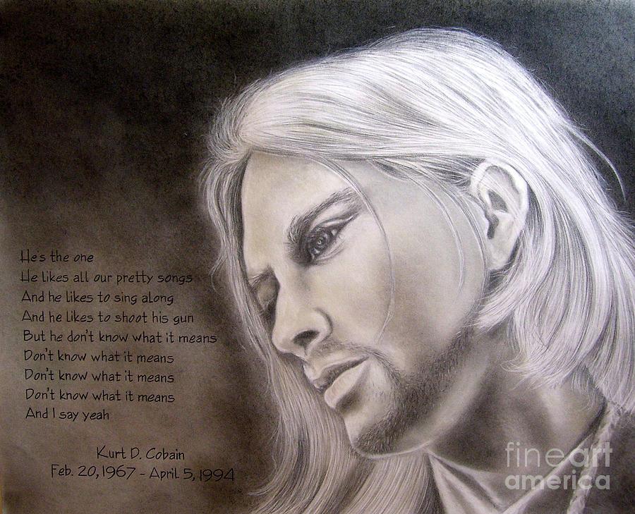 Portrait Drawing - Kurt Cobain by Oscar Arauz