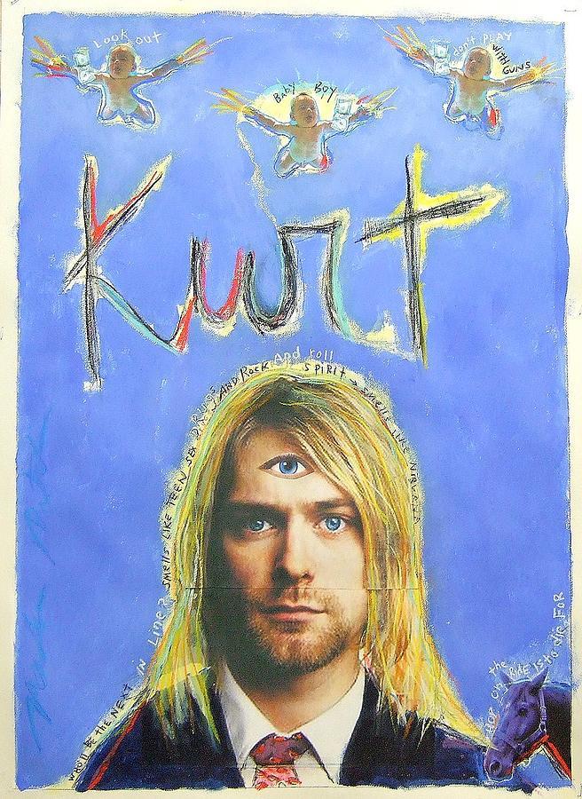 Grunge Painting - Kurt by Mike  Mitch