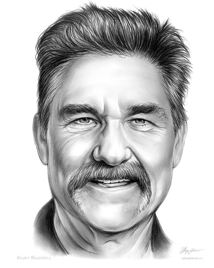 Kurt Russell Drawing - Kurt Russell by Greg Joens