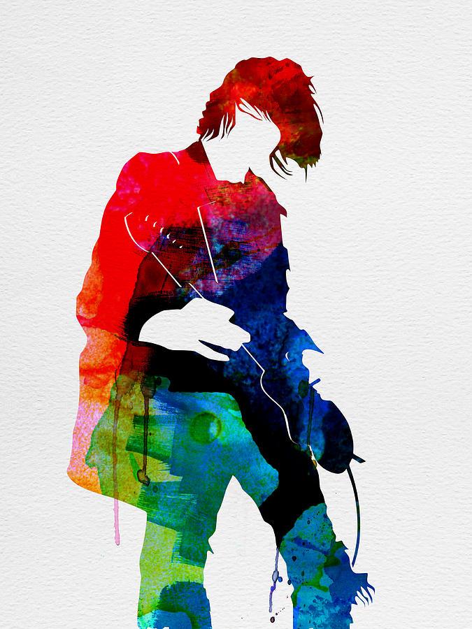 Kurt Cobain Painting - Kurt Watercolor by Naxart Studio