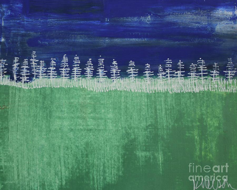Woods Painting - Kurts Woods by Kim Nelson