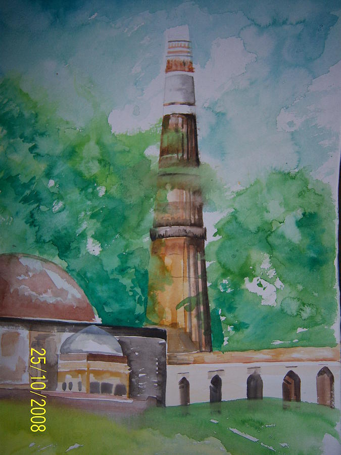 Kutub Minar Painting by Shweta Gupta