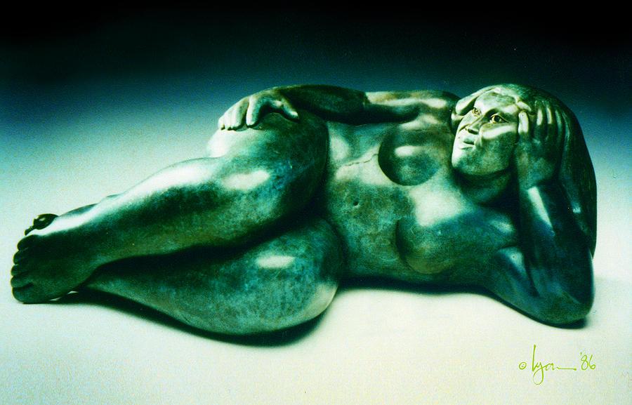 Stone Sculpture - Kuulei by Angela Treat Lyon