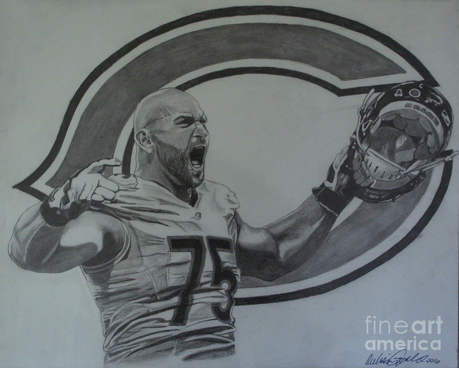 Kyle Long of the Chicago Bears by Melissa Jacobsen