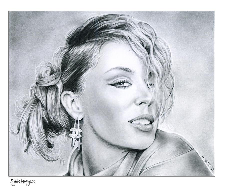 Kylie Minogue Drawing - Kylie Minogue by Greg Joens