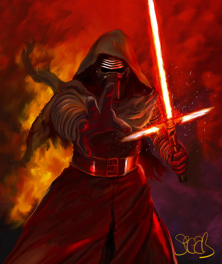 Kylo Ren Painting By Mark Spears