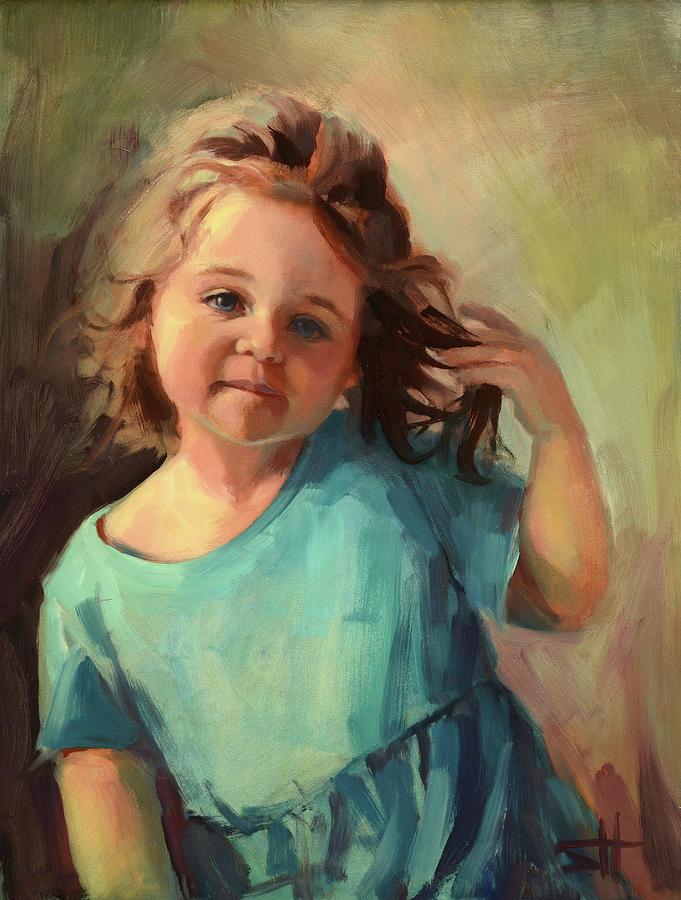 Child Painting - Kymberlynn by Steve Henderson