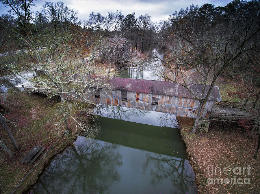 Kymulga Covered Bridge Aerial 2 Photograph