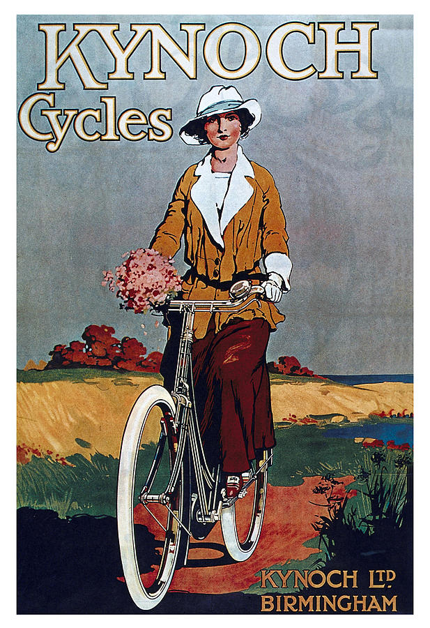 Kynoch Cycles - Bicycle - Vintage Advertising Poster Mixed Media