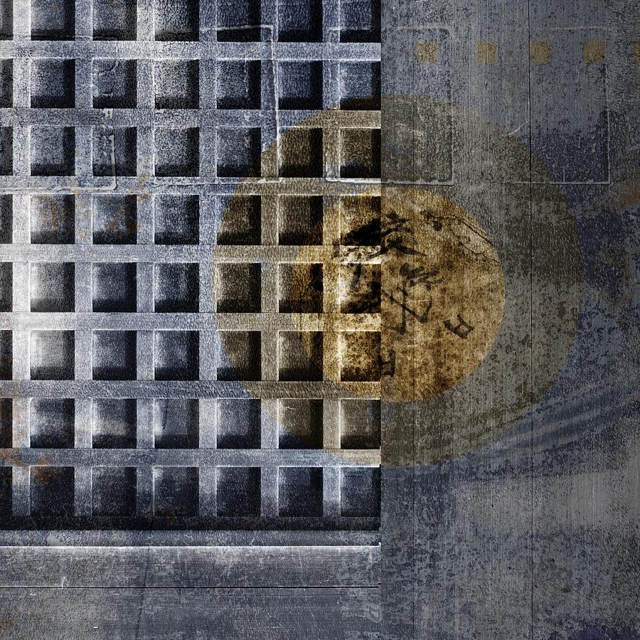 Door Photograph - Kyoto Doorways In Blue Series 3 by Carol Leigh