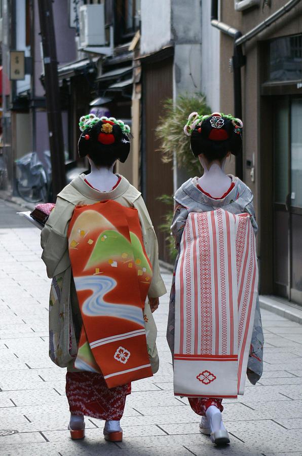 Kyoto Photograph - Kyoto Geishas by Jessica Rose