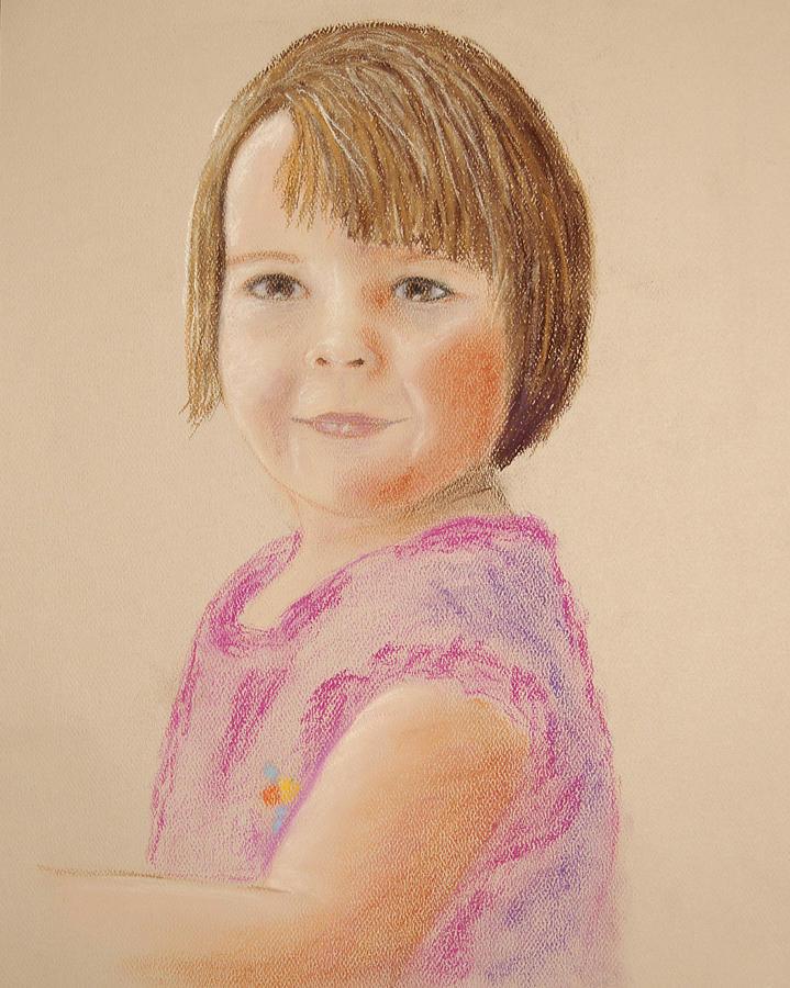 Child Painting - Kyra No.2 by Marina Garrison
