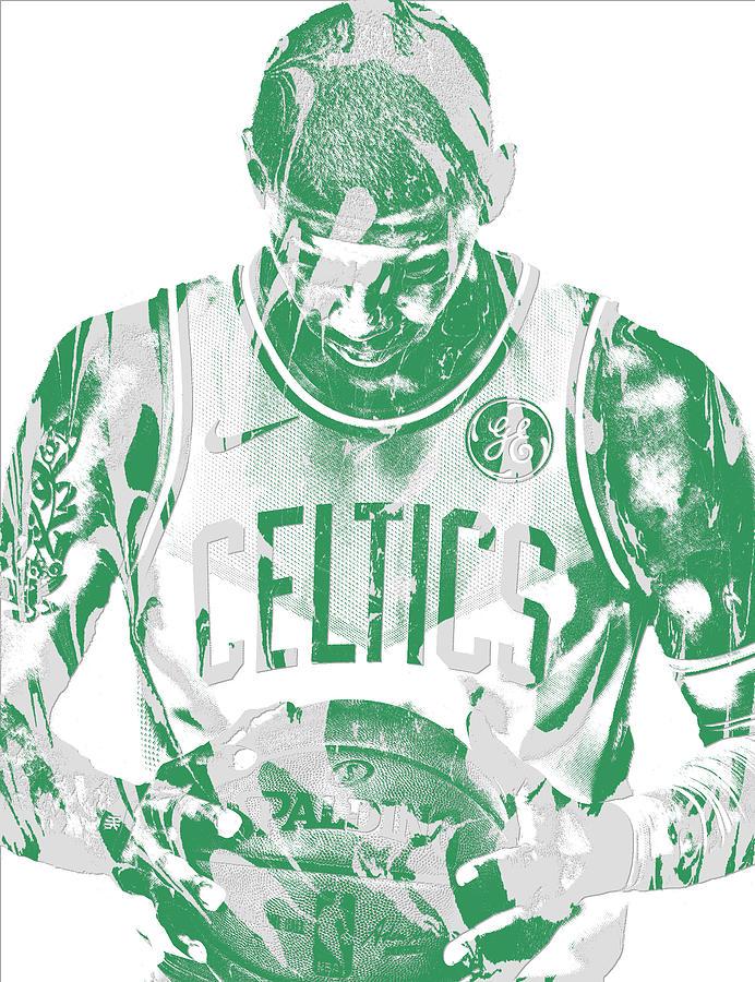 Kyrie Irving Mixed Media - Kyrie Irving Boston Celtics Pixel Art 5 by Joe Hamilton