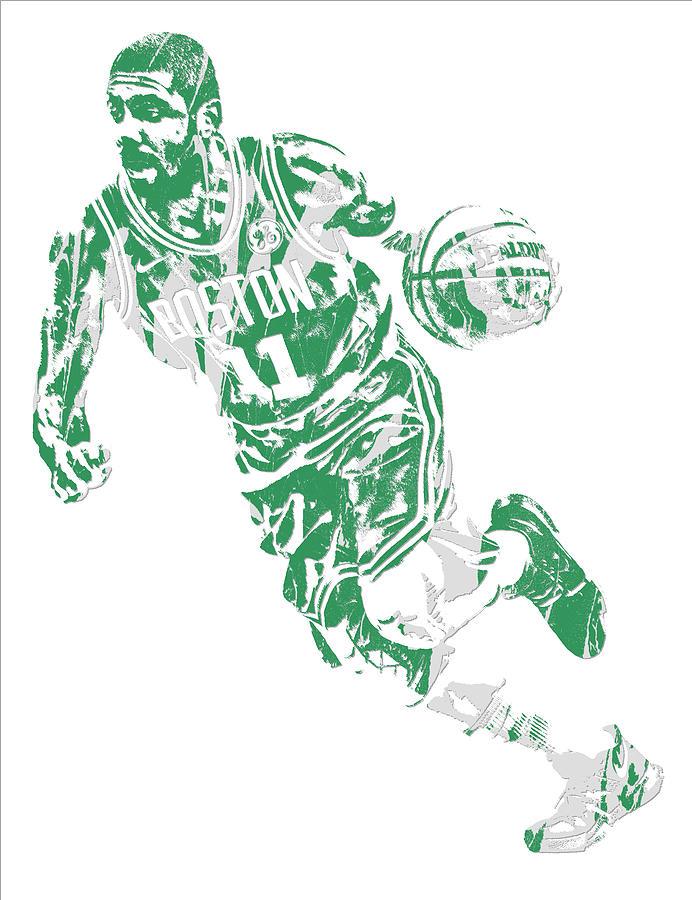 Kyrie Irving Mixed Media - Kyrie Irving Boston Celtics Pixel Art 9 by Joe Hamilton